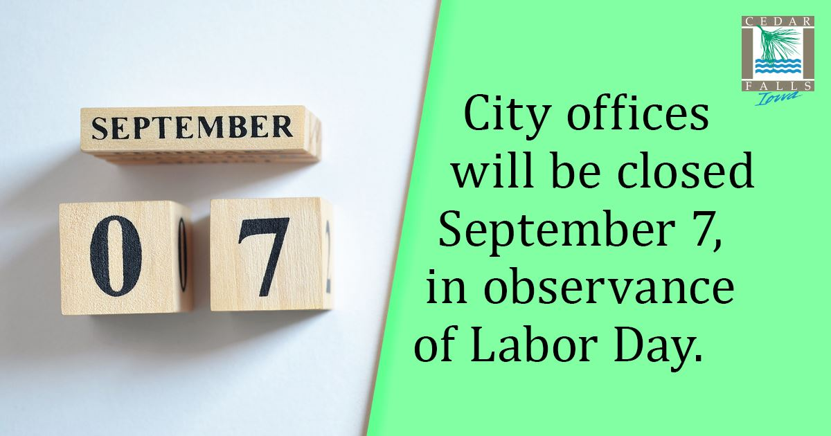 city offices closed Sept 7