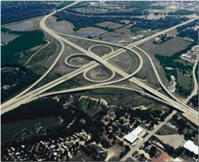 Ariel photo of Highway interchange