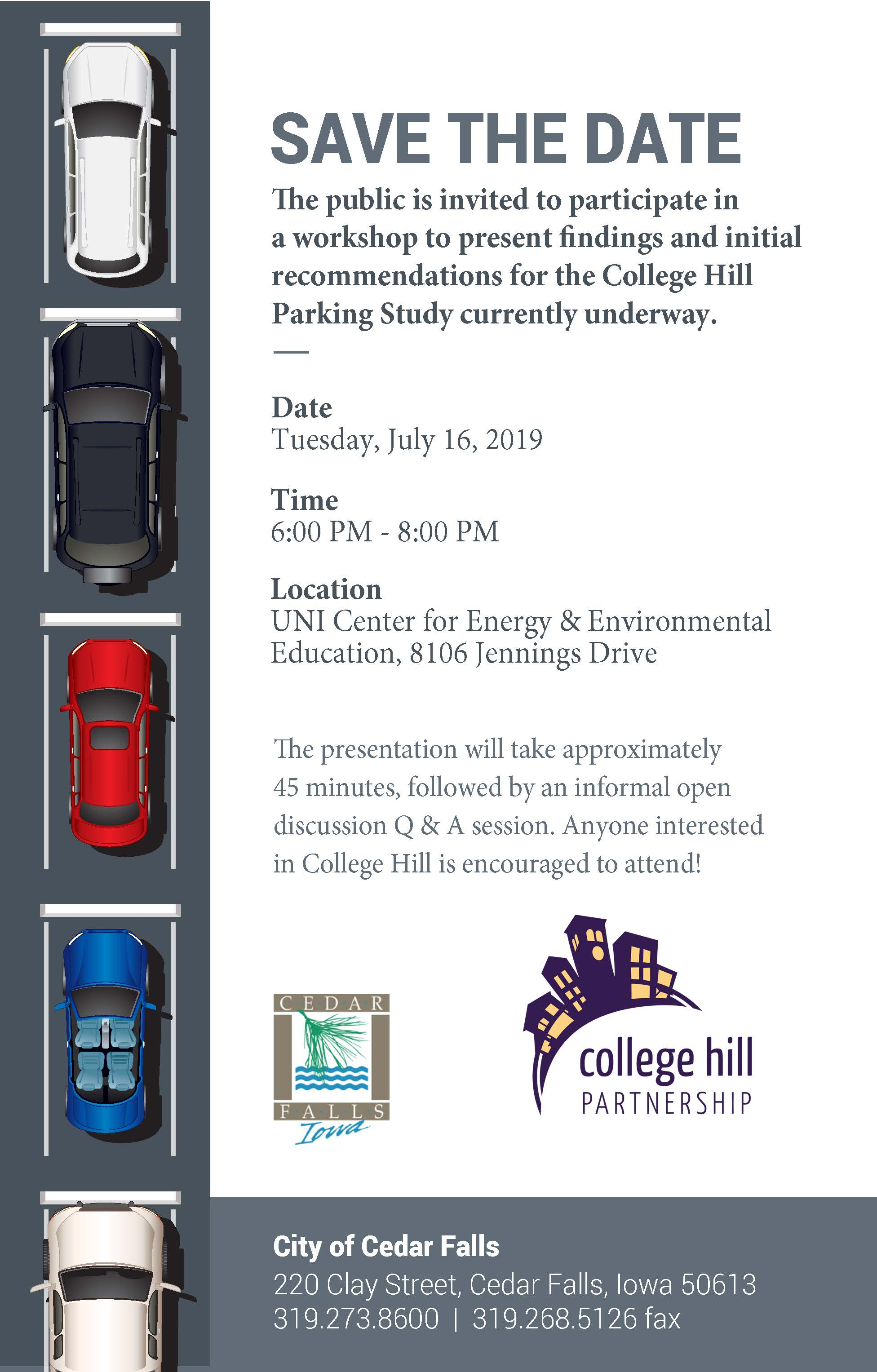 190716 College Hill Parking Study Meeting Flyer