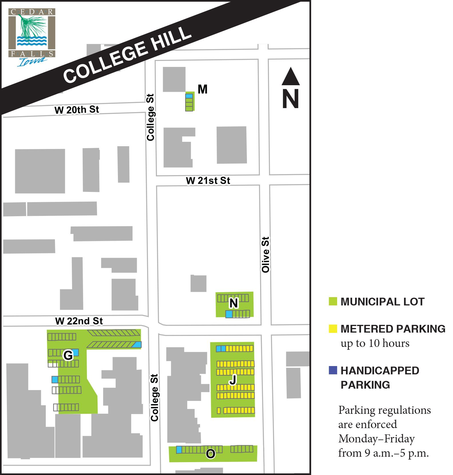 college hill parking map