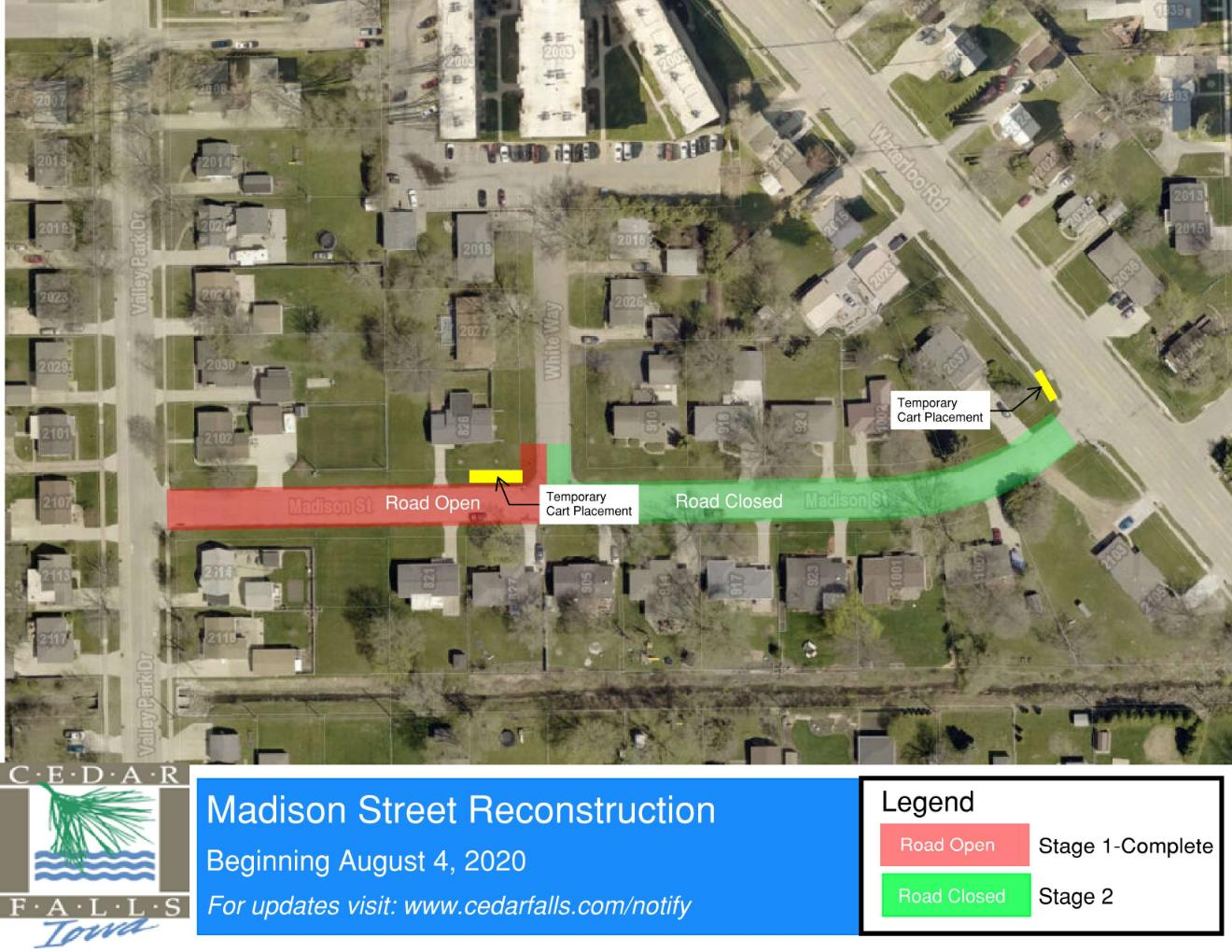 Madison St Closure - Stage 2 map