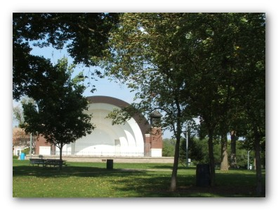 Close Up of Band Shell