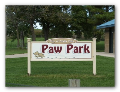 Paw Park Sign