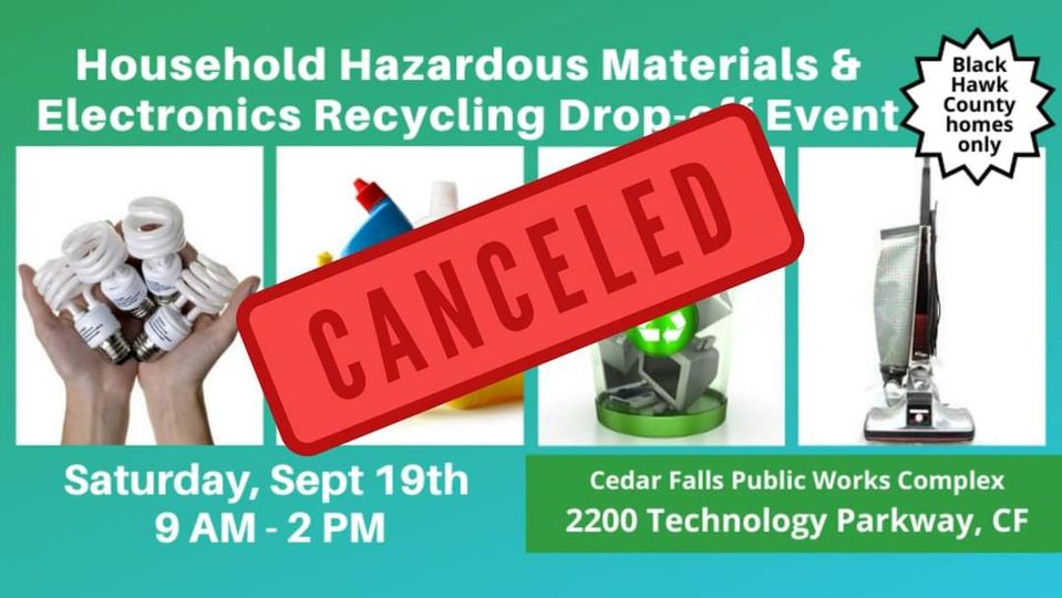 Graphic for Waste Event Cancellation