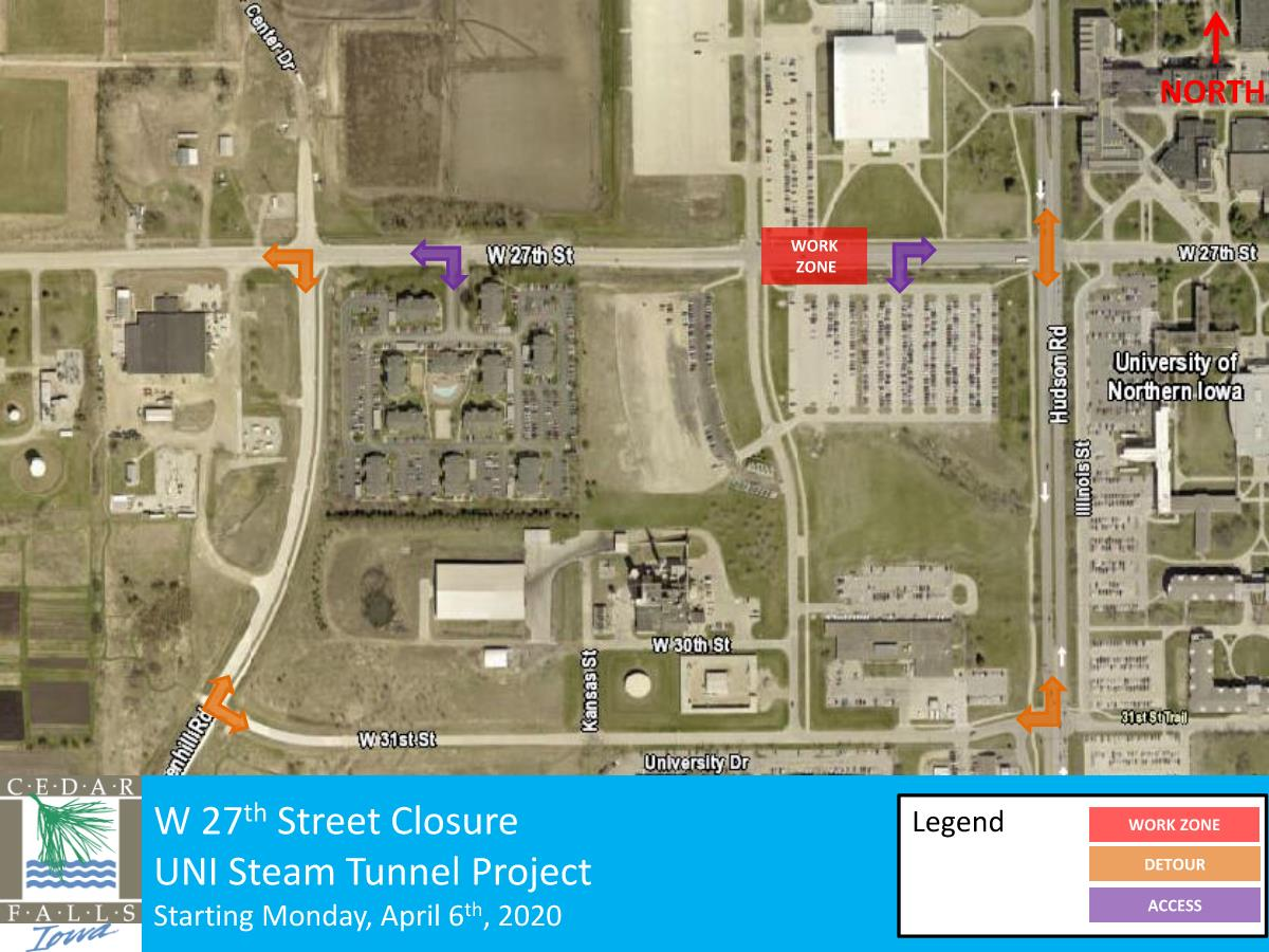 27th Street Closure - UNI Updated